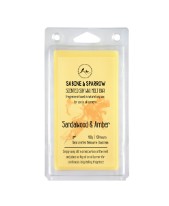 Sandalwood Amber soy wax break apart melt burner
