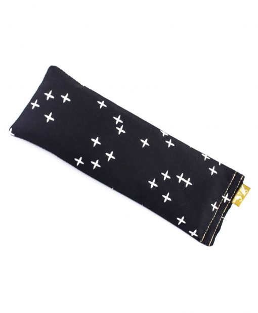 cross black eye pillow eye pillow melbourne designer cotton