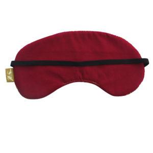 burgundy eye mask back