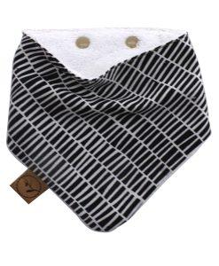 monochrome-tiles-baby-bandana-dribble-bib-adjustable-terry-cotton-designer