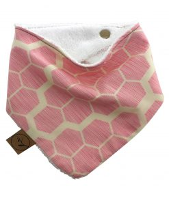 honeycomb-pastel-baby-bandana-dribble-bib-adjustable-terry-cotton-designer