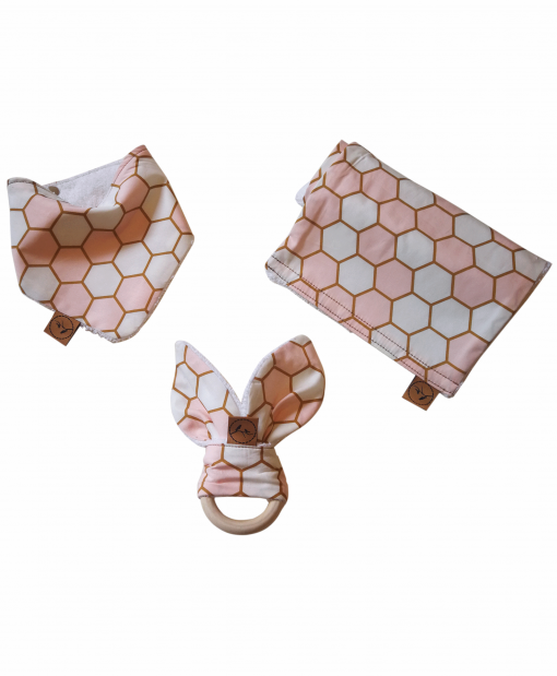 Pastel Honeycomb baby pack soft newborn essential designer