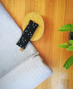 Crosses on Black yoga eye pillow melbourne designer cotton