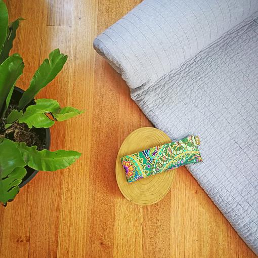 Paisley Jungle yoga eye pillow melbourne designer cotton