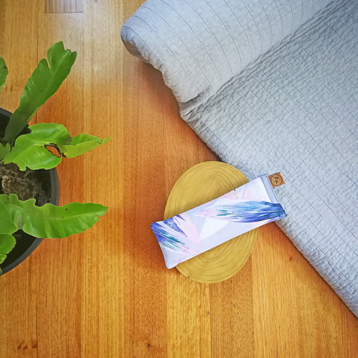 Pastel Feather yoga eye pillow melbourne designer cotton