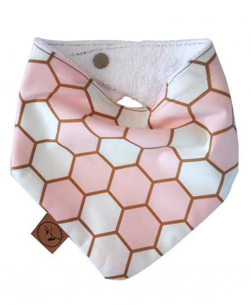 Pastel Honeycomb bandana Bib adjustable terry cotton-designer