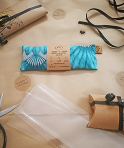 Teal Feather packing eye pillow melbourne designer cotton