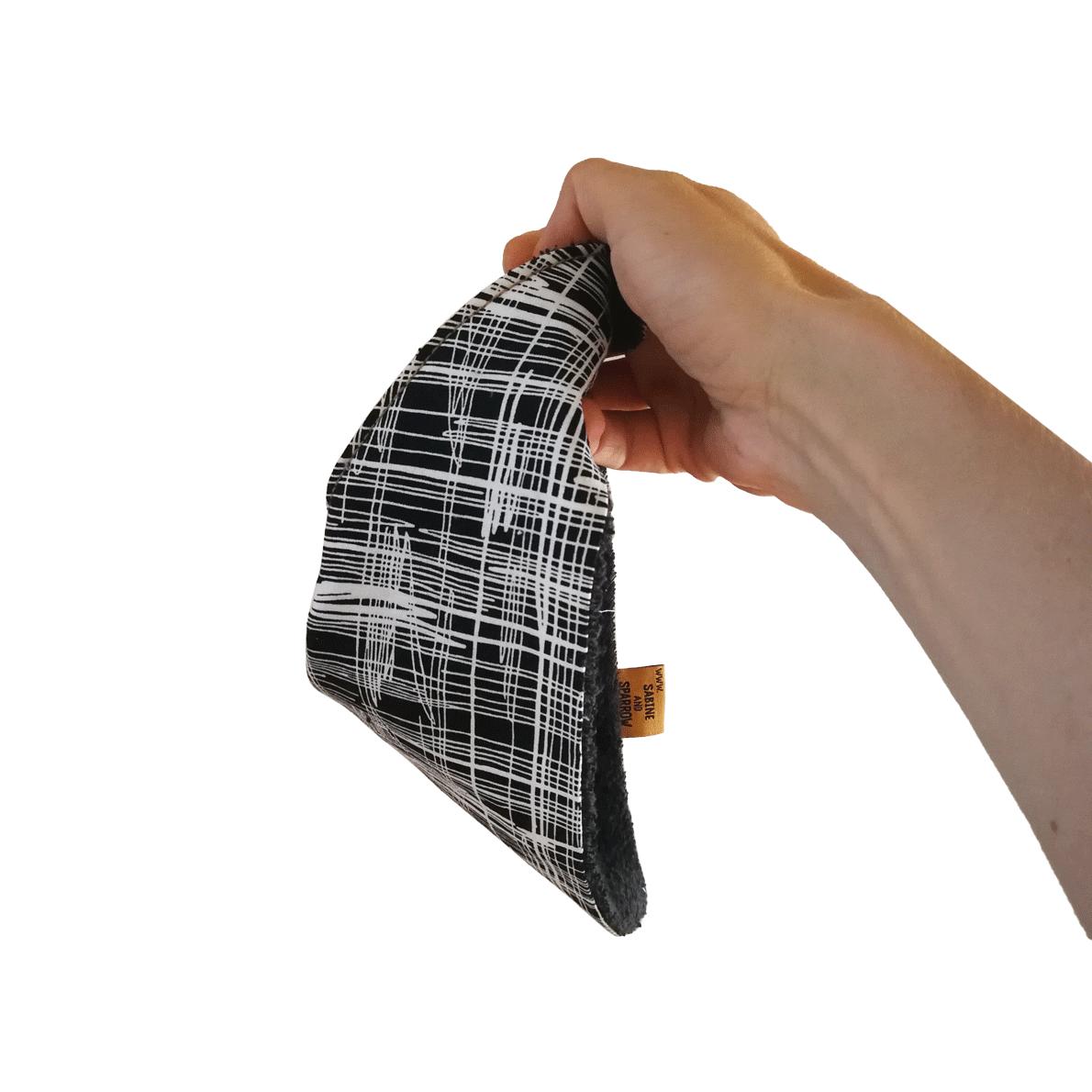 Sketch Bib Holding Bandana Dribble Bib Adjustable Terry Cotton Designer Sabine Sparrow