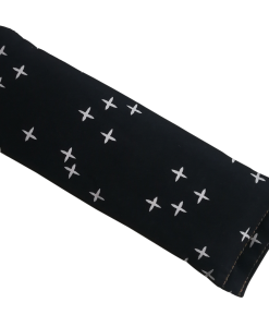Crosses on Black angle eye pillow melbourne designer cotton