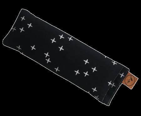 Crosses on Black eye pillow