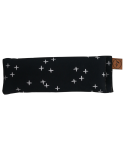 Crosses on black staight eye pillow  melbourne designer cotton