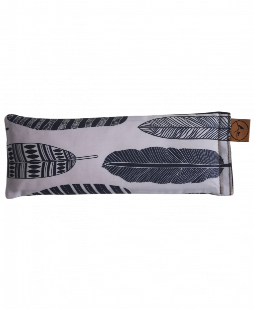Feather your nest  straight eye pillow melbourne designer cotton