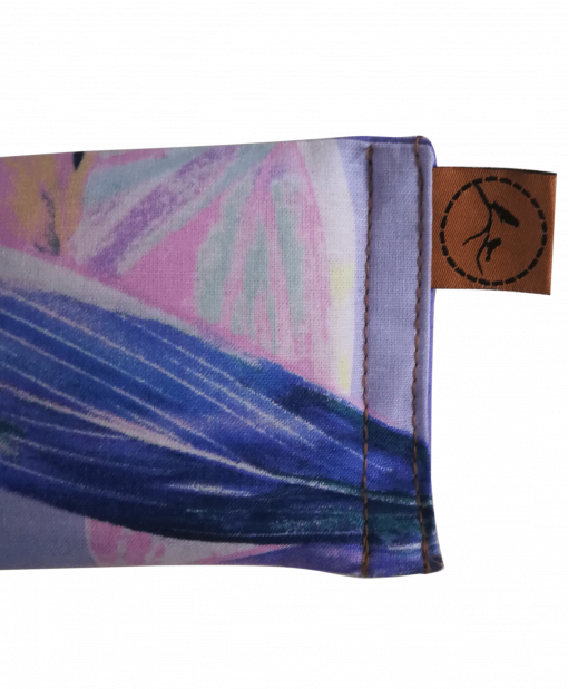 Pastel Feather close eye pillow melbourne designer cotton