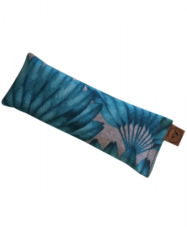 Teal Feather eye pillow