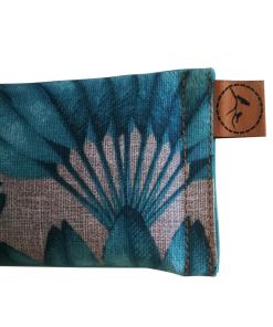 Teal Feather close eye pillow melbourne designer cotton