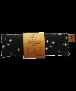 crosses on black eye pillow melbourne designer cotton