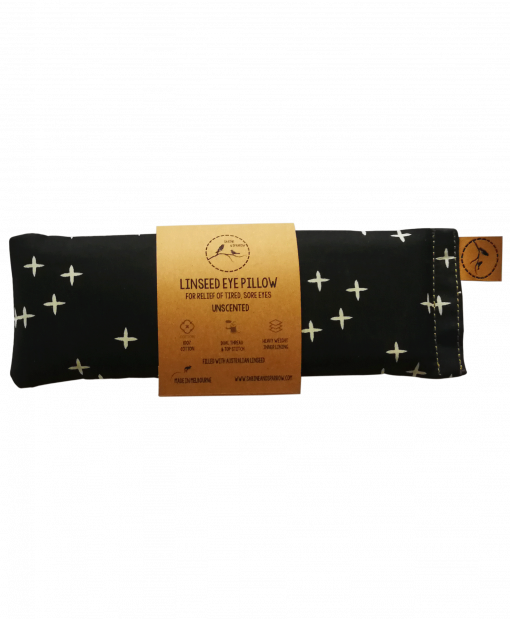 crosses on black eye pillow melbourne designer cotton