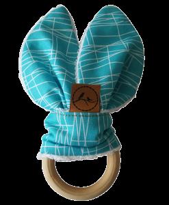 jax baby teether wooden bunny jaw development