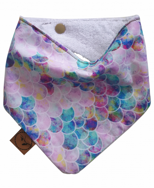 Oyster bib bandana dribble bib adjustable terry cotton designer