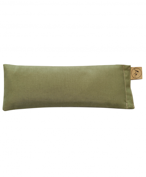 Olive-eye-pillow-lavender-sore-pain-relief-yoga
